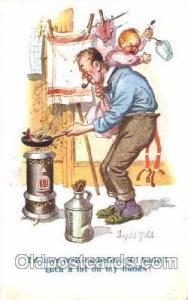 Children Smoking Postcard Postcards  Artist Donald McGill