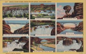 Idaho Snake River Gorge Multiple Snake River Views Curteich