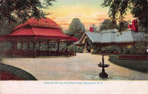 Shelter House, Prospect Park, Brooklyn, N. Y., Early Postcard, Used in 1908