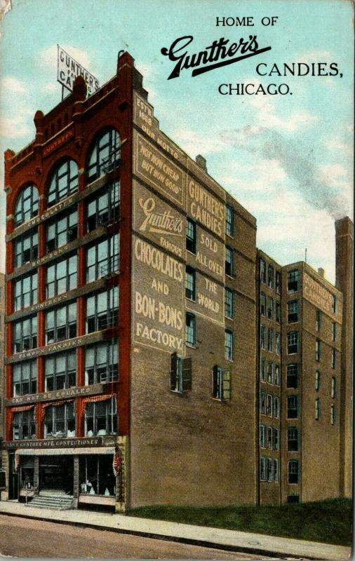 Chicago~Chocolate & Bon-Bons Factory (Gone!)~Gunthers Candies Confectionery~1911