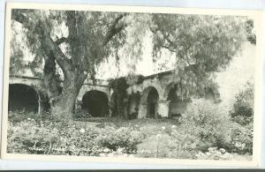 San Juan Capistrano Mission, California, unused real photo Postcard