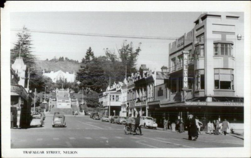 Nelson NZ New Zealand Trafalgar St. Real Photo Card/Postcard