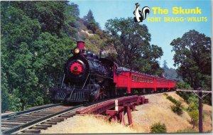 The Skunk train Fort Bragg-Willits California