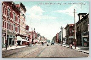 Marshalltown Iowa~Main Street East~Laundry~Upholstery~Street Workers~c1910 PC