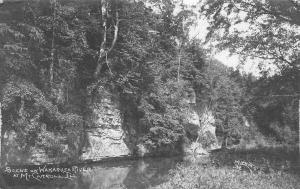 Mt Mount Carroll Illinois~Wakarusa River Bluffs~CR Childs~1914 Real Photo~RPPC
