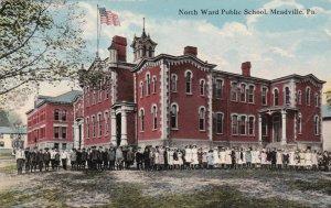 Pennsylvania Meadville Students At North Ward Public School Curteich 1914 sk346