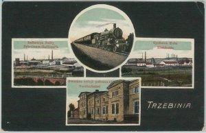 48263 - VINTAGE POSTCARD Ansichtskarten - Polen POLAND - Trzebinia 1918 -  TRAIN