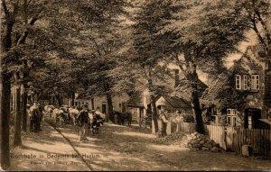 Germany Dorfstrasse In Bedemis bei Husum 1910