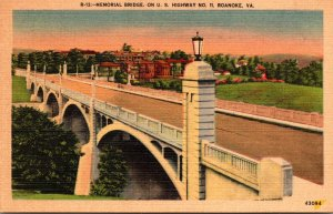 Virginia Roanoake Memorial Bridge On U S Highway 11