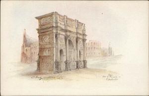 Roma Arc de Triumph artist signed L. Prady