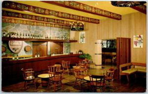 1960s Asti CA Postcard Interior of Tasting Room of Italian Swiss Colony Winery