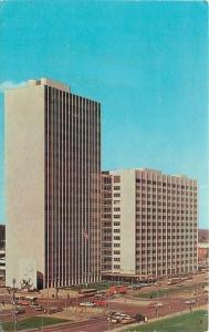Detroit Michigan~City-County Building~1950-60s Postcard