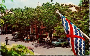 St. George's Bermuda Flag Vintage Postcard E88 *as is