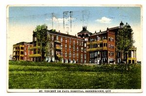 Canada - Quebec, Sherbrooke. St. Vincent de Paul Hospital