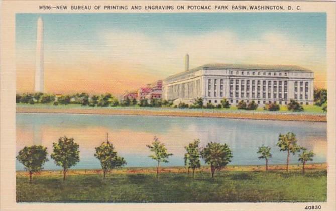 Washington D C New Bureau Of Printing & Engraving On Potomac River Basin
