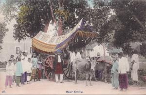 Malay Festival Singapore Antique Postcard