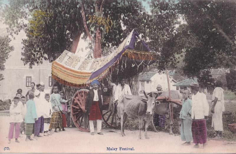Malay Festival Singapore Antique Postcard