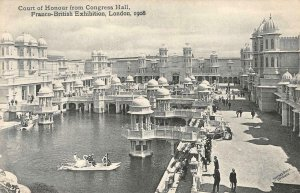 Court of Honour Congress Hall Franco-British Exhibition London 1908 Postcard