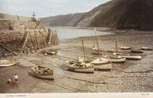 CLOVELLY, Devon, England, 1950-1970s; Clovelly Harbor, Boats On Land
