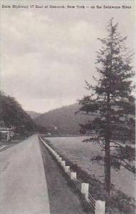 New York East of Hancock State Highway 17 on the Delaware River Albertype