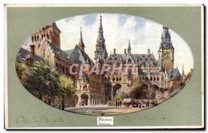Old Postcard Aachen Aachen Rathaus