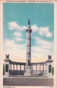 Virginia Richmond Jefferson Davis Monument