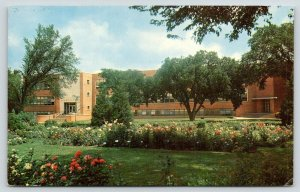 Ames Iowa~Iowa State College~University~Agronomy Building & Formal Green~1950s