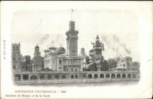 1900 Paris Exposition Universelle Pavillons Monaco & Suede c1900 Postcard