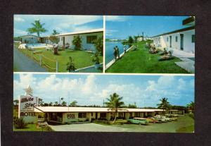 FL White Star Hotel Motel Ft Fort Lauderdale Florida Postcard Pool