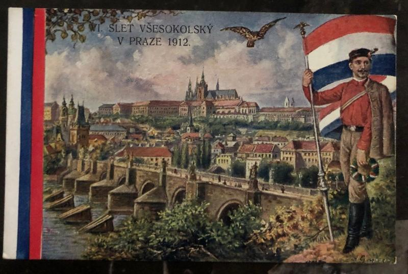 Mint Czechoslovakia Picture Postcard PPC Prague 1912 Bridge & Castle