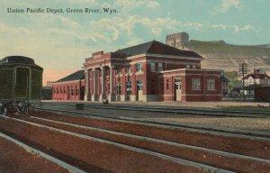 GREEN RIVER , Wyoming , 00-10s ; Union Pacific Railroad Train Depot