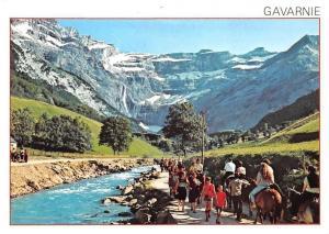 France Gavarnie Hautes Pyrenees Le Cirque, La Cascade et le Gave