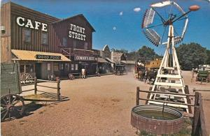 Ogallala Nebraska~Closeup Farm Windmill~Cafe, Cowboy Rest on Front Street~1950s