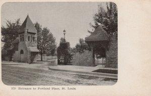 ST. LOUIS , Missouri , 1901-07 ; Entrance to Portland Place
