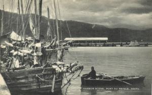 haiti, PORT AU PRINCE, Harbour Scene (1930s)