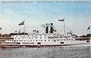 Hudson Navigation Company Citizens Line Troy & New York USA Ship Postcard Pos...