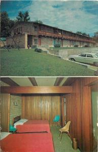 Roach Missouri~Windermere Baptist Motel~Gals Stand Over Balcony Ledge 1960s