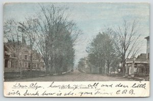 Candor New York~Upper Main Street Homes~Bakery & Lunch Room~Dirt Road~1905 UDB
