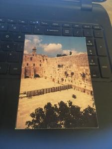 Vintage Postcard: Jerusalem, Wailing Wall portrait view