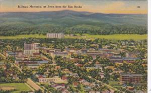 Montana Billings As Seen From The Rim Rocks 1946