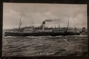 Mint New Zealand RPPC Real Picture Postcard RMS Makura Passenger Ship