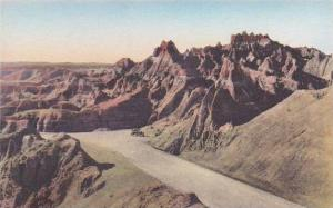 South Dakota Badlands Going Up To The Pinnacles The Badlands National Monumen...