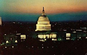 Washington D C United States Capitol At Twilight