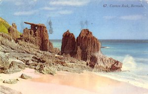 Bermuda Postcard Old Vintage Island Post Card Cannon Rock 1960