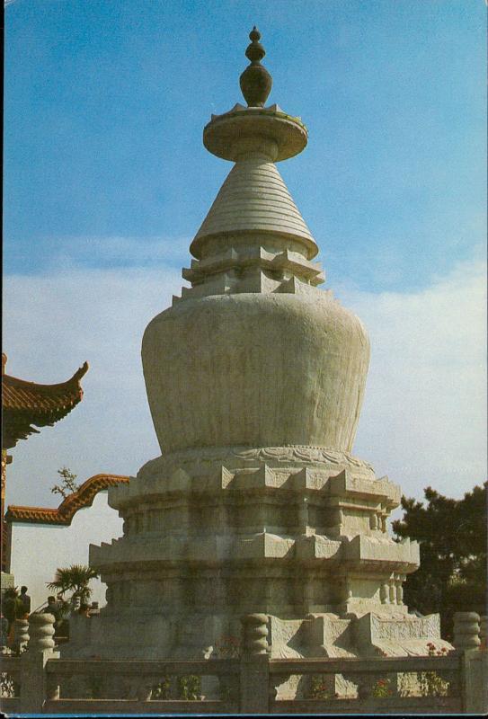 China White dagoba Blanka stupao
