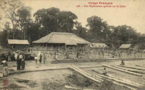 CPA Francais Congo Afrique - Une exploitation agricole sur le Léfini (86656)