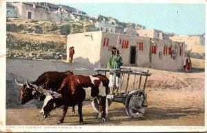 New Mexico Laguna Pueblo Old Carreta 1918 Detroit Publishing