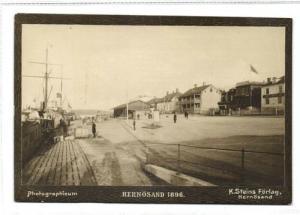 sweden, HERNÖSAND, Quay (1896) Photographicum