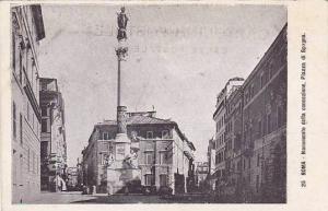 Monumento Della Concezione, Piazza Di Spagna, Roma (Lazio), Italy, 1910-1920s