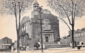 ROSELLE NEW JERSEY BOROUGH HALL-MAYROSE PUBLISHED PHOTO POSTCARD 1940s